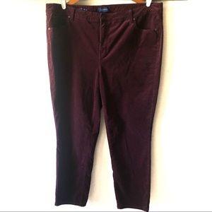Talbots high rise straight leg corduroy pants